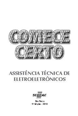 Sebrae - Assistência Técnica de Eletroeletrônicos