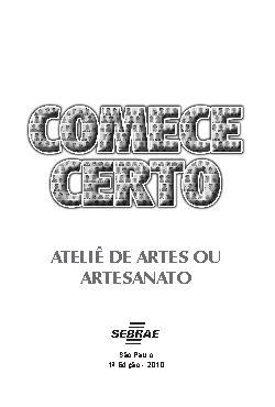 Sebrae - Ateliê de Arte e Artesanato