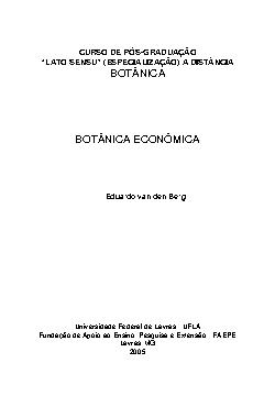 Botânica Econômica - Domesticação de Plantas