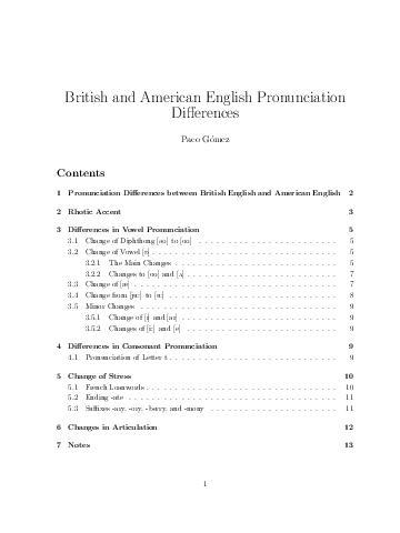Pronuncia Ingles Britanico e Americano