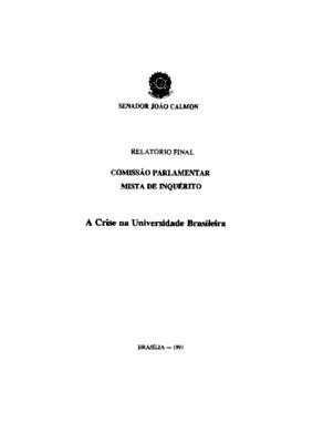 Relatório final Comissão Parlamentar Mista de Inquerito :  ...