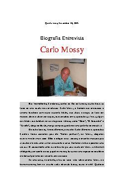 <font size=+0.1 >Carlo Mossy</font>