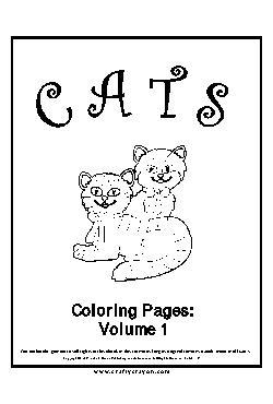 Gato Livro de Colorir - Vol.1