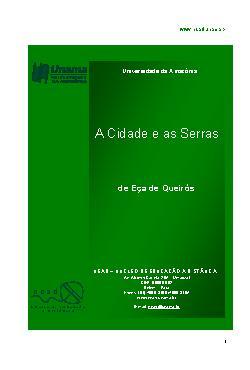 <font size=+0.1 >A Cidade e as Serras</font>