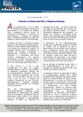 O Senado e o Estatuto das Micro e Pequenas Empresas