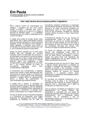 Uma visão técnica dos processos político e legislativo