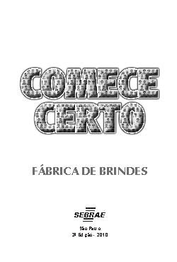 Sebrae - Fábrica de Brindes