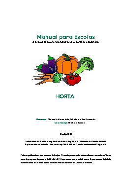 Manual da horta para escolas