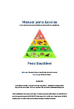 Manual do peso saudavel para escolas