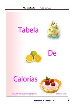 <font size=+0.1 >Tabela de calorias</font>