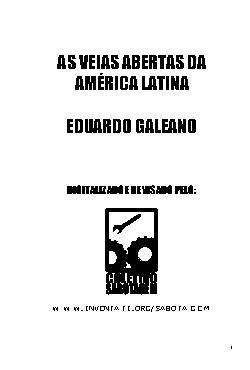 Veias Abertas da América Latina