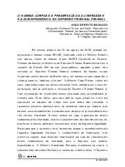 O Habeas Corpus e a Preservação da Liberdade e da Jurispru ...