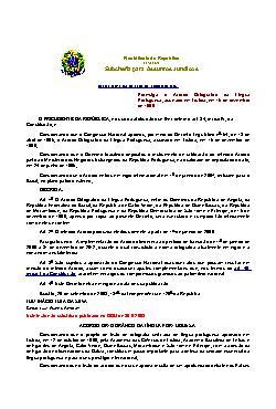 Decreto n. 6.583/2008 - Acordo ortográfico da língua portu ...