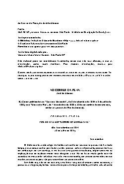 <font size=+0.1 >Ao Correr da Pena</font>