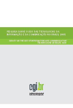 Pesquisa sobre o uso das Tecnologias da Informação e da co ...