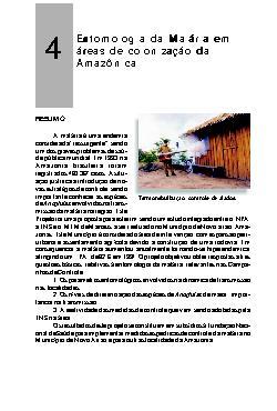 Entomologia da malária em áreas de colonização da Amazônia