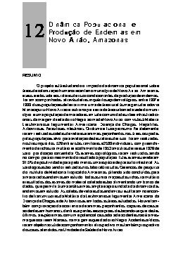 Dinâmica populacional e produção de endemias em Novo Airão ...