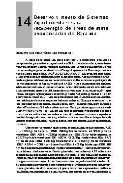 Desenvolvimento de sistemas agroflorestais para recuperaçã ...