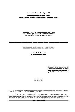 Estudo da competitividade da indústria brasileira - compet ...