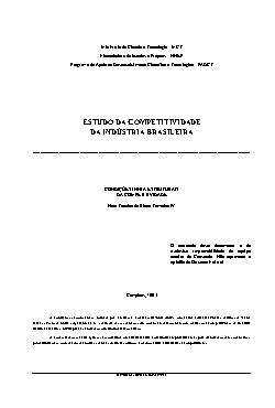Estudo da competitividade da indústria brasileira - condiç ...