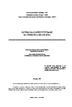 Estudo da competitividade da indústria brasileira - o Bras ...