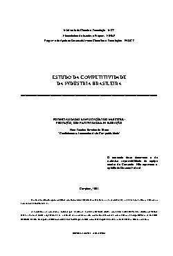 Estudo da competitividade da indústria brasileira - potenc ...