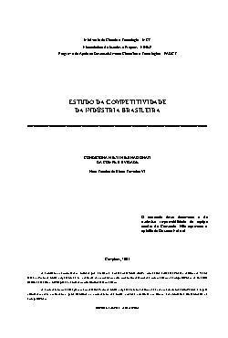 Estudo da competitividade da indústria brasileira - condic ...
