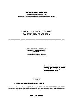 Estudo da competitividade da indústria b