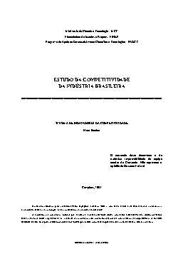 Estudo da competitividade da indústria brasileira - sistem ...