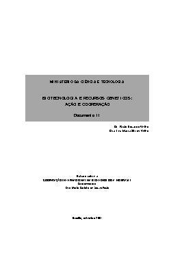 Biotecnologia e recursos genéticos: ação e cooperação - do ...