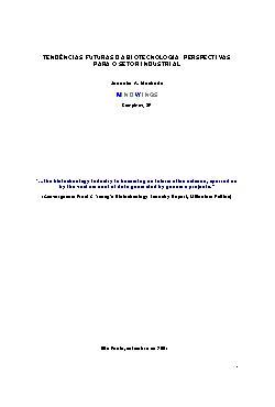 Tendências futuras da biotecnologia: perspectivas para o s ...