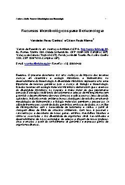 Recursos microbiológicos para biotecnologia