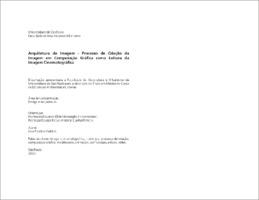 Arquitetura da imagem: processo de criação da imagem em co ...