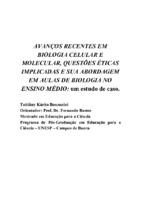 AVANÇOS RECENTES EM BIOLOGIA CELULAR E MOLECULAR QUESTÕES ÉT[..]