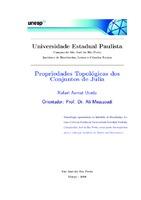 Propriedades topológicas dos conjuntos de Julia