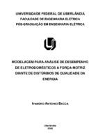 Modelagem para análise de desempenho de eletrodomésticos à ...