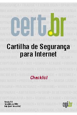 Cartilha de Segurança para Internet - Parte 09: Checklist
