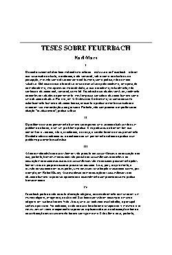 <font size=+0.1 >Teses sobre Feuerbach</font>