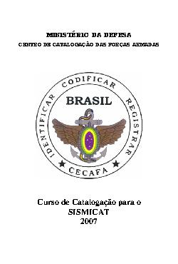Curso de Catalogação 2007 - Apostila