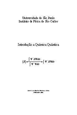 Introdução à química quântica
