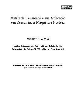 Matriz de densidade e sua aplicação em ressonância magnéti ...