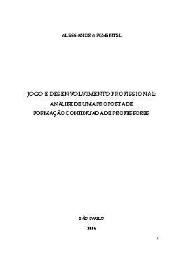 Jogo e desenvolvimento profissional: análise de uma propos ...