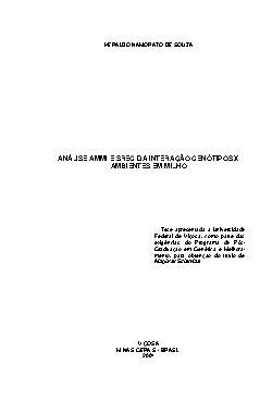 Análise AMMI  e SREG da interação genótipos x ambientes em ...