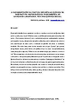 A representação da prática docente em química na perspecti ...