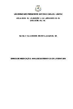 Erros de medicação: análise sistemática da literatura