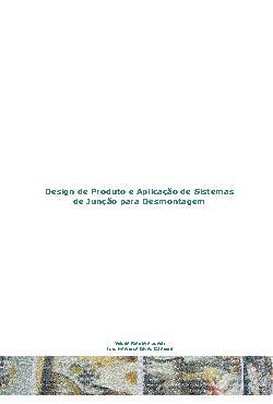Design de produto e aplicação de sistemas de junção para d ...