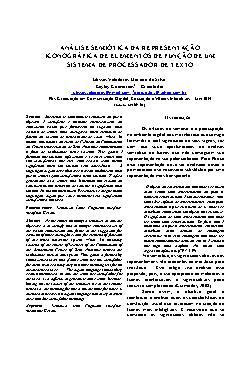 Análise Semiótica da representação iconográfica de element ...