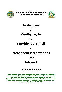 Instalação e configuração de servidor de e-mail e mensagen ...