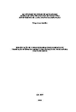 Identificação de código de barras em documentos de tramita ...