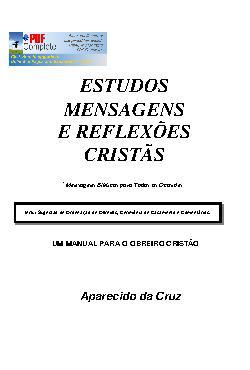 Estudos,  mensagens e reflexões cristãs